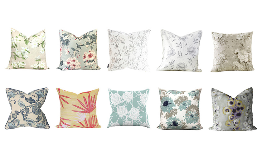 Bring On The Blooms: Add Fun With Floral Pillows